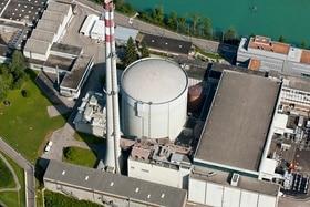 Vista aerea sulla centrale nucleare di Mühleberg.