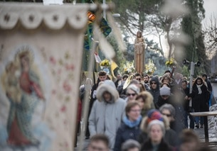 Religious procession in Lugano