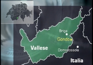 La cartina del Vallese