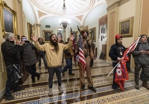 Supporter di Trump all interno del Campidoglio