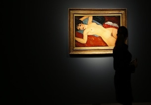 Dipinto di Modigliani (Nudo sdraiato) venduto all asta nel 2015 daChristie's.